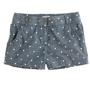 NWOT J.Crew Polka Dot Shorts sz 4 Cotton